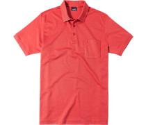 Polo-Shirt Polo, Baumwoll-Piqué, koralle meliert