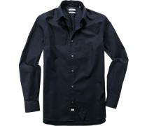 Hemd Fitted Baumwolle nachtblau
