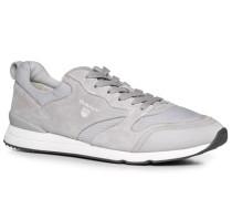 Schuhe Sneaker Leder-Textil hellgrau