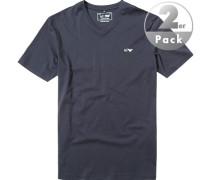 T-Shirt Pima Baumwolle nachtblau
