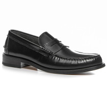 Herren Schuhe Loafers Leder schwarz schwarz,grau