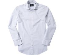 Hemd Modern Fit Baumwolle -bleu gemustert