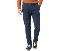 Herren Chino Modern Fit Baumwoll-Stretch jeansblau