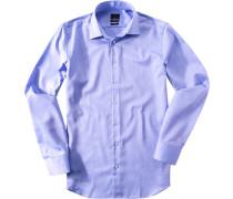 Hemd Modern Fit Baumwolle himmelblau meliert