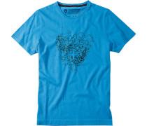 T-Shirt J-Tai Baumwolle capriblau