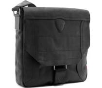 Herren Tasche strellson Messenger Bag Nubukleder schwarz