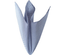 Accessoires Einstecktuch Seide marineblau-weiß gemustert