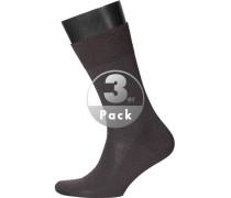 Herren Socken Socken Merinowolle dunkelbraun