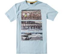 Herren T-Shirt Baumwolle pastellblau