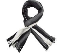 Herren  Schal Wolle grau-schwarz gestreift