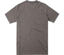 T-Shirt, Baumwolle, hellbraun meliert