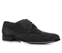Schuhe Budapester Veloursleder dunkelblau