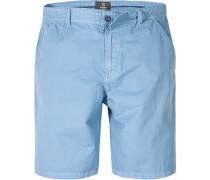 Herren Hose Bermudashorts Baumwolle hellblau