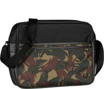 Herren Tasche FRED PERRY Umhängetasche Microfaser camouflage schwarz