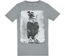 T-Shirt, Baumwolle, meliert