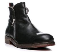 Herren Schuhe Stiefeletten Ziegenleder schwarz grau