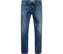 Blue-Jeans Baumwoll-Stretch jeansblau