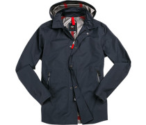 Mantel Anorak Regular Fit Microfaser navy