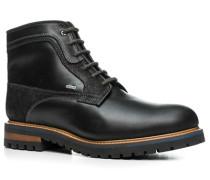 Herren Schuhe Stiefelette Glattleder warm gefüttert schwarz schwarz,braun