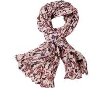 LONDON Schal Baumwolle beige -rot- gemustert