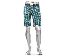 Hose Bermudashorts Earnie Fancy Modern Fit Baumwolle blau gemustert