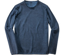 Herren Pullover Baumwolle tintenblau