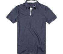 Polo-Shirt Polo Baumwoll-Jersey dunkelblau