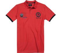 Polo-Shirt Polo, Modern Fit, Baumwoll-Pique, feuerrot