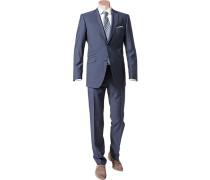 Herren Anzug Shape Fit Schurwolle Super100 Angelico marine blau