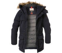 Jacke Parka Microfaser Thermore® dunkelblau