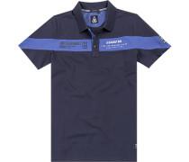 Polo-Shirt Polo Baumwolle navy