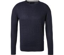 Pullover, Alpaka-Schurwolle, dunkelblau
