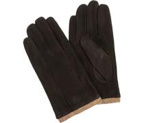 Herren strellson Handschuhe Nubukleder schwarz