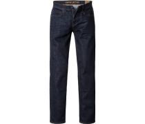 Jeans Straight Fit Baumwoll-Stretch indigo