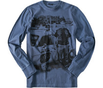 T-Shirt Baumwolle jeansblau