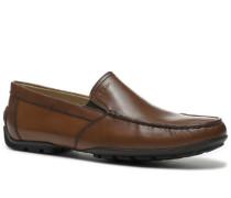 Schuhe Mokassins, Leder, cognac