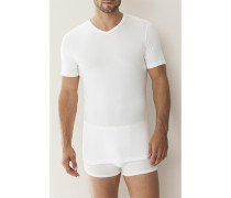 T-Shirt Micro-Modal , schwarz, dunkelblau, santorin oder weiß