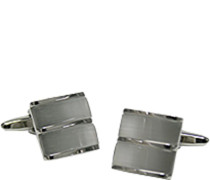 Schmuck Manschettenknöpfe Metall silber-