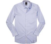Hemd Modern Fit Baumwolle hellblau gemustert