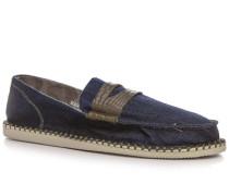 Herren Slipper Denim jeansblau blau,braun,grün