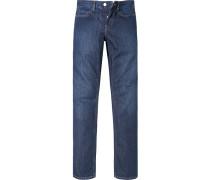 Jeans, Baumwolle, dunkelblau