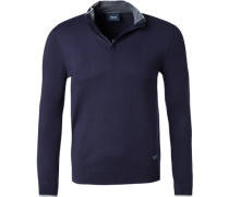 Pullover Troyer, Microfaser, navy