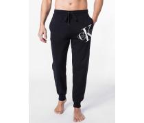 Schlafanzug Sweathose, Regular Fit, Baumwolle,