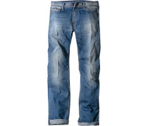 Jeans Regular Fit Baumwoll-Stretch blue denim