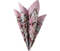 Accessoires Einstecktuch Baumwolle-Seide rosa gemustert
