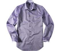 Hemd Oxford violett