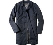 Mantel Baumwolle wasserabweisend dunkelblau