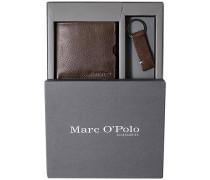 Marc O`Polo Geschenk-Set Rindleder dunkelbraun