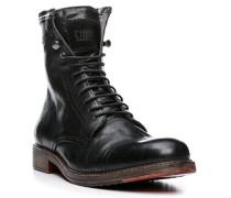 Herren Schuhe Stiefeletten Ziegenleder schwarz schwarz,grau