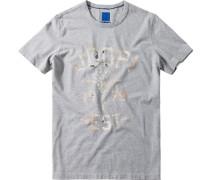 T-Shirt, Regular Fit, Baumwolle, meliert